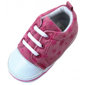 Playshoes - Babyschuhe Mädchen, Turnschuh Sterne, rosa-pink - Gr. 19