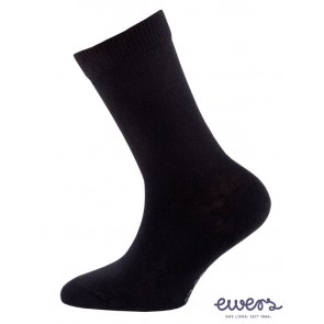 Ewers - schwarze Kindersocken, Teens, Basic - Gr. 43-45
