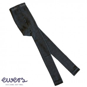 Ewers -  Thermo-Leggings Kinder, anthrazit uni - Gr. 122-128