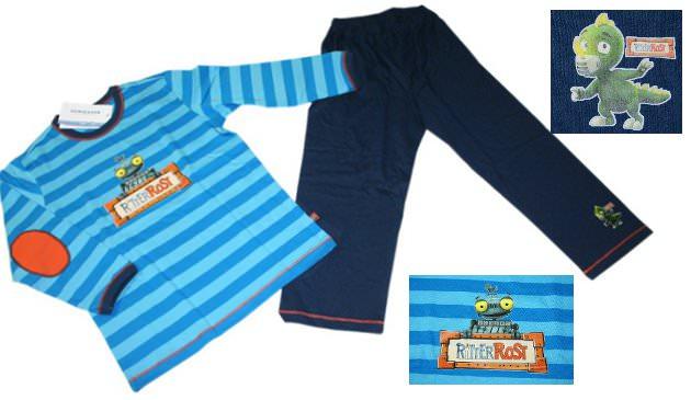 Kinder-Schlafanzug aus der Ritter Rost Kollektion von Schiesser