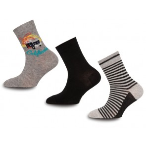 Ewers -  Kindersocken 3er Pack, California Beach - Gr. 35-38