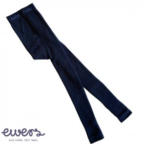 Ewers -  Thermo-Leggings Kinder, dunkelblau uni - Gr. 110-116